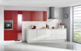 kuchynská-linka-červená-biela-lesklá-3