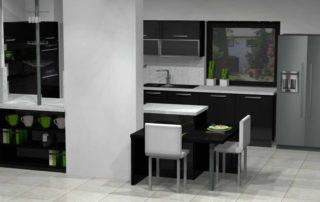 kuchynská-linka-čierna-lesklá-biela-pracovná-doska-1