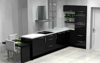 kuchynská-linka-čierna-lesklá-biela-pracovná-doska-2
