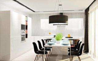 kuchynská-linka-biela-lesklá-s-jedálenským-stolom-2