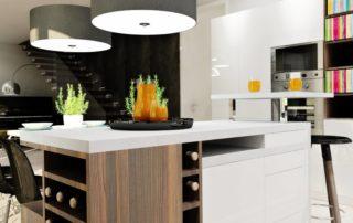 kuchynská-linka-biela-lesklá-s-jedálenským-stolom-4